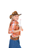 Pretty sly cowgirl Stock Image