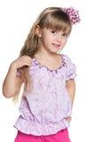 Pretty small girl Stock Photos