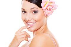 Pretty smiley model Stock Image