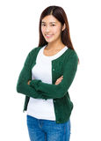 Pretty smiling asian female model Stock Images