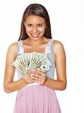 Pretty smiling beautiful woman Stock Image