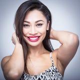 Pretty Smiling Beauty Studio Portrait Stock Image