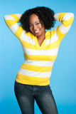 Pretty Smiling Black Woman Stock Photography
