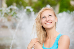 Pretty smiling blond Royalty Free Stock Photos