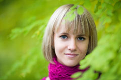 Pretty smiling blonde girl Royalty Free Stock Images