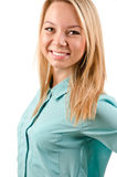 Pretty smiling blonde student Stock Image