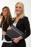 Pretty smiling business woman Stock Photos
