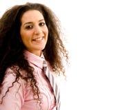 Pretty smiling businesswoman Stock Photos