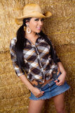 Pretty Smiling Cowgirl Royalty Free Stock Image