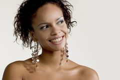 Pretty Smiling Face. Pretty African-American girl more in my gallery Royalty Free Stock Image