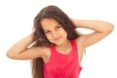 Pretty smiling girl stock photos