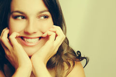 Pretty Smiling Girl Royalty Free Stock Photography