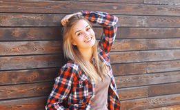 Pretty smiling girl in casual clothes Royalty Free Stock Photo