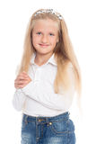 Pretty smiling girl six years Royalty Free Stock Photos