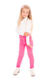 Pretty smiling girl six years Stock Images