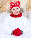 Pretty smiling little girl Stock Images