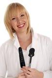 Pretty smiling optometrist or optician Royalty Free Stock Photo
