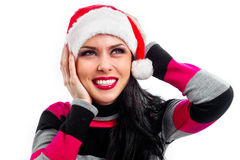 Pretty  smiling Santa Stock Photography