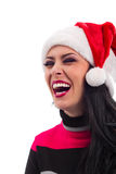 Pretty  smiling Santa girl Royalty Free Stock Photography