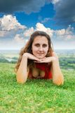 Pretty smiling  sexy girl  relaxing outdoor Royalty Free Stock Photography