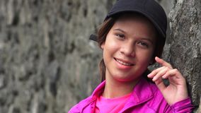 Pretty Smiling Teen Girl stock video