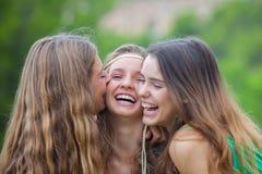 Pretty smiling teens. Stock Photo