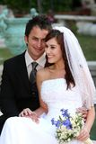Pretty Smiling Wedding Couple Royalty Free Stock Photo