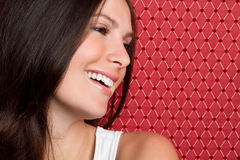 Pretty Smiling Woman Stock Photos