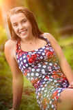 Pretty Smiling Woman Stock Photo