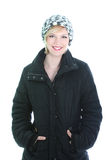 Pretty smiling woman in winter coat Royalty Free Stock Photo