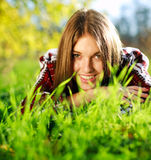 Pretty smiling young girl Stock Image