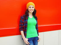 Pretty smiling young woman in casual clothes Royalty Free Stock Image