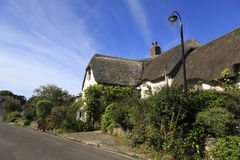 Pretty Somerset village scene. Allerford is a village in the county of Somerset, England, located within Exmoor National Park, and is part of the parish of Stock Photo