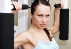 Pretty sportswoman training Stock Photos
