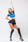 Pretty sporty woman dancer Stock Images