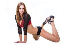 Pretty sporty woman dancer Stock Photo