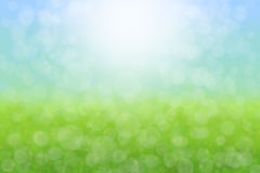 Pretty Spring Background. Meadow Sky Flowers Abstract Stock Photography