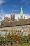 Pretty Sqaure and Trondheim Cathedral Stock Photography
