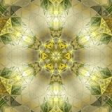 Pretty stained glass kaleidoscope royalty free stock image