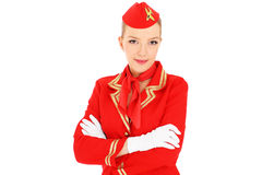 Pretty stewardess Royalty Free Stock Images