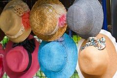 Pretty straw hat Stock Photos