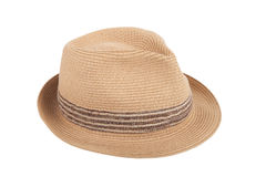 Pretty straw hat isolated on white background Stock Image