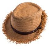 Pretty straw hat Stock Image