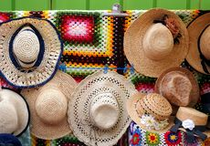 Pretty Strawhats for Sale Royalty Free Stock Photo