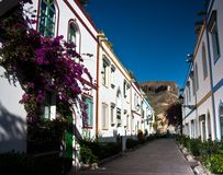 Pretty Stree in Puerto Mogan Stock Image