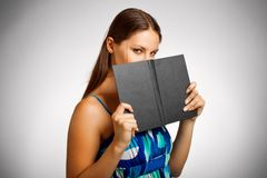 Pretty student with book Stock Photo