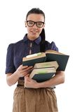 Pretty student with books smiling Stock Images