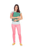 Pretty student girl with pink pants Stock Photography