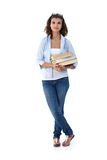 Pretty student holding books Royalty Free Stock Photos