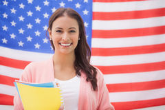 Pretty student smiling at camera Stock Photography